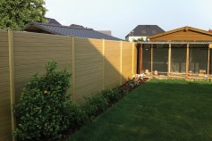 Natural gravel boards used to create a maintenance FREE panel